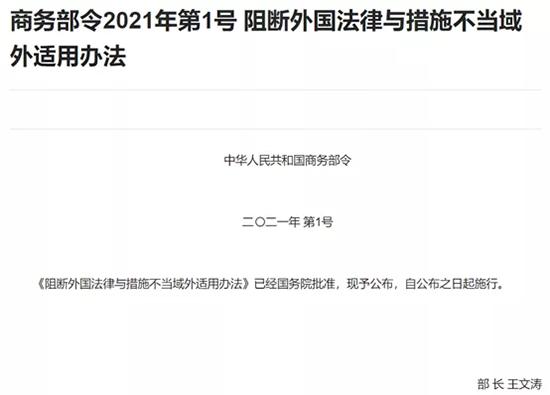 商务部丨2021年一号令——《阻断外国法律与措施不当域外适用办法》1.png